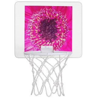 Flor rosada mini tablero de baloncesto