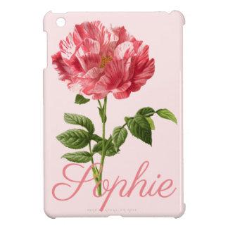 Flor rosada Personnalised del vintage/del