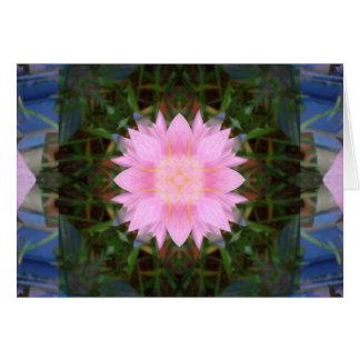 Flor rosada Starburst Tarjeta De Felicitación