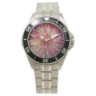 Flor rosada violeta de Dalia Reloj