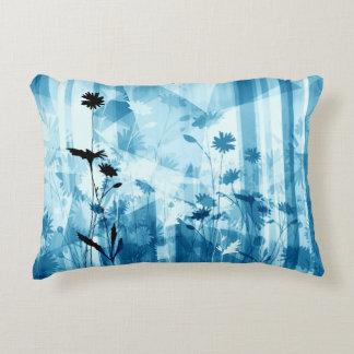 Flor salvaje azul cojín