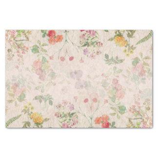 Flor salvaje del boda rosado romántico floral papel de seda