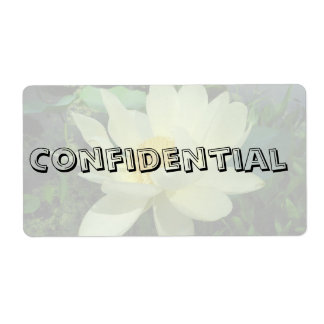 Flor secretísima confidencial g del lirio de agua etiquetas de envío