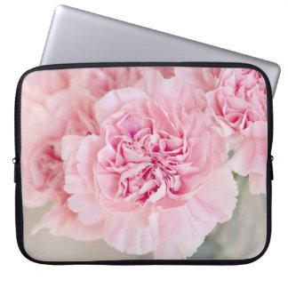 Flor suave del rosa del polvo funda para portátil