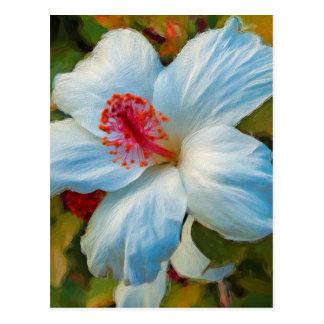 Flor tropical exótica postal