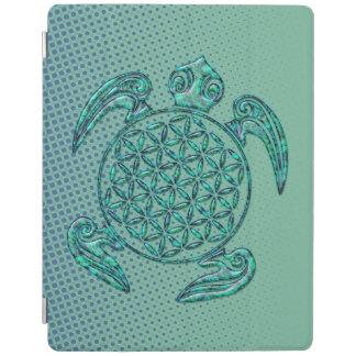 Flor turquesa de la tortuga del DES Lebens de la Cover De iPad