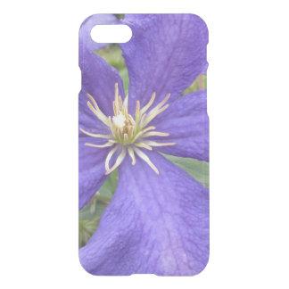 Flor verde púrpura del Clematis Funda Para iPhone 7