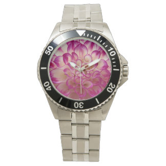 Flor violeta de Dalia Relojes De Pulsera