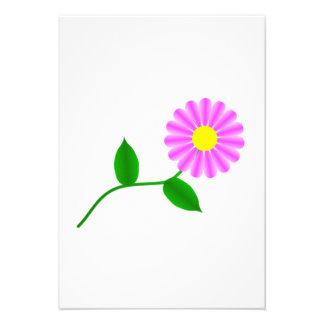 Flor violeta invitación personalizada