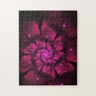 Flor violeta puzzle