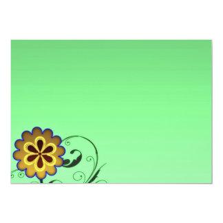 Flor y regalo expresivos del special de los invitación 12,7 x 17,8 cm