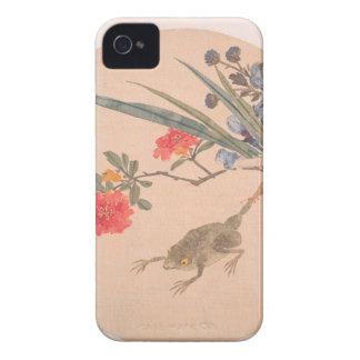 Flor y sapo - Zhang Xiong (chino, 1803-1886) Funda Para iPhone 4