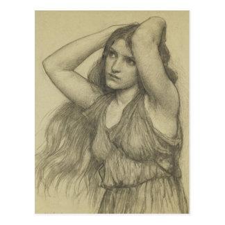 Flora con el pelo largo tarjetas postales