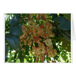 Flora del gorra del Chinaman tropical hawaiano de  Tarjeta De Felicitación