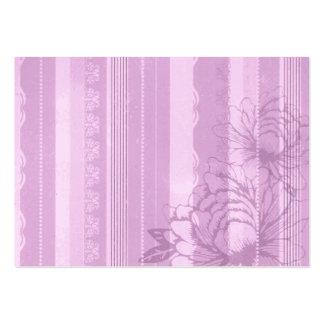 Flora rosada tarjetas de visita grandes