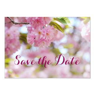 Floración de la cereza invitación 12,7 x 17,8 cm