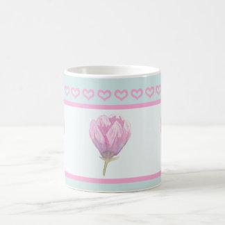 Floración de la magnolia en Watercolour Taza De Café
