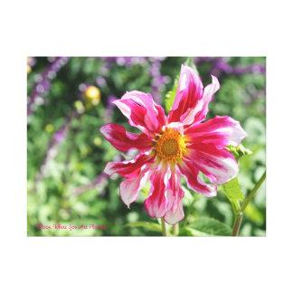 Floración donde usted está lona plantada impresión en lienzo