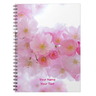 Floración japonesa rosada modificada para cuaderno