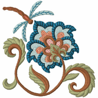 Floración y libélula jacobeas 2 sudadera con serigrafía