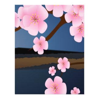 Floraciones de la cereza de Asia Folleto 21,6 X 28 Cm