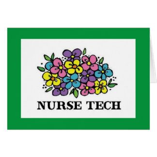 Floraciones de la tecnología de la enfermera tarjeta de felicitación