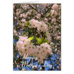 Floraciones del tiempo de primavera felicitaciones