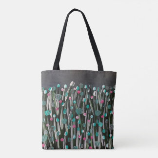 Floraciones intrépidas bolsa de tela