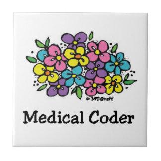 Floraciones médicas del práctico de costa del codi azulejo cuadrado pequeño