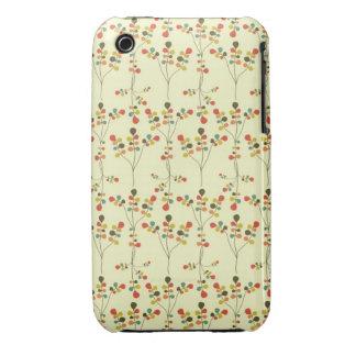 Floraciones retras de la primavera de la MOD iPhone 3 Funda