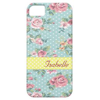 Floral apacible del vintage elegante iPhone 5 Case-Mate protector