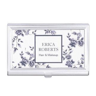 Floral azul y blanco del vintage del artista de cajas de tarjetas de negocios