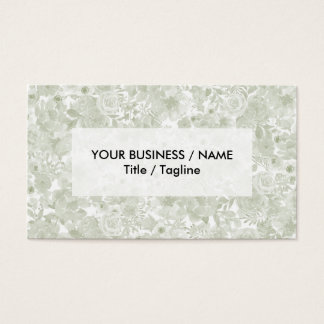 Floral bohemio de la acuarela verde en colores tarjeta de negocios