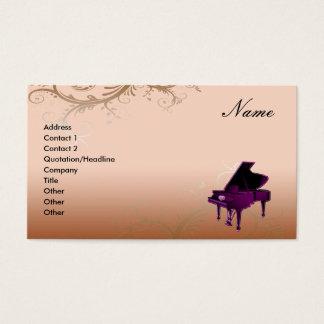 Floral decorativo de la tarjeta de visita del