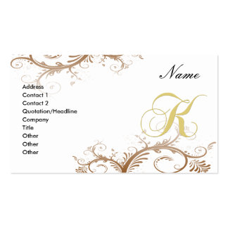Floral decorativo de la tarjeta de visita K