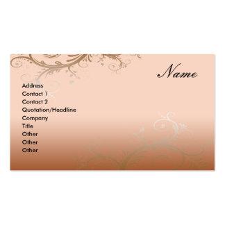 Floral decorativo de la tarjeta de visita