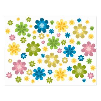 Floral - diseño del hippie postal