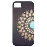 Floral elegante de madera elegante de la flor de iPhone 5 Case-Mate cárcasa