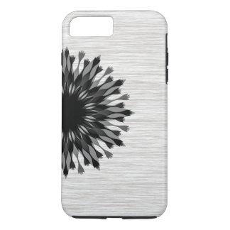 Floral elegante de madera negro elegante de la funda iPhone 7 plus