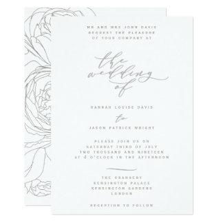 Floral elegante invitación 12,7 x 17,8 cm