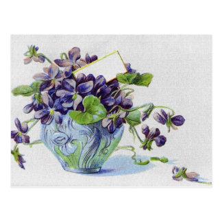 Floral elegante y vides postales