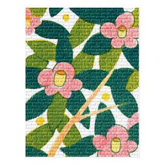 Floral elegante y vides tarjetas postales