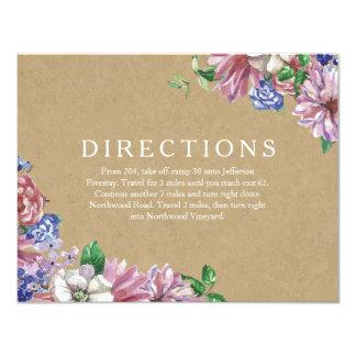 Floral en tarjetas de la dirección del boda del invitación 10,8 x 13,9 cm
