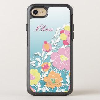 Floral esculpida contemporáneo funda OtterBox symmetry para iPhone 7