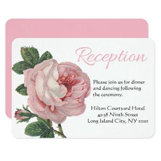 Floral gracias boda color de rosa rosado del invitación 8,9 x 12,7 cm