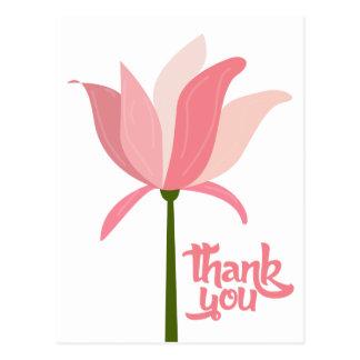 Floral gracias flor rosada - boda, fiesta postal