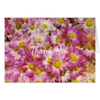 Floral gracias tarjeta de felicitación