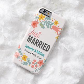 Floral hermoso apenas casado casando la funda de iPhone 6 barely there