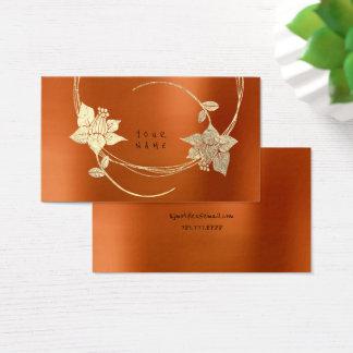 Floral metálico de la miel del oro más astuto tarjeta de negocios