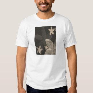 Floral negro y blanco contemporáneo camiseta